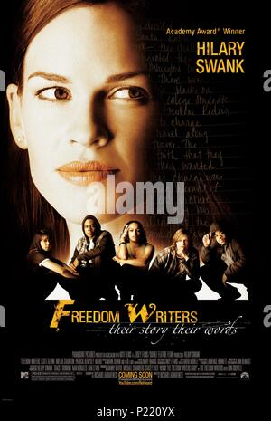 Original Film Title: FREEDOM WRITERS.  English Title: FREEDOM WRITERS.  Film Director: RICHARD LAGRAVENESE.  Year: 2007.  Stars: HILARY SWANK. Credit: PARAMOUNT PICTURES / Album - Stock Photo