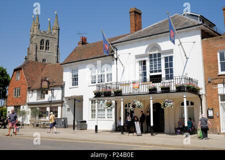 Tenterden town hall, high street, kent, uk - Stock Photo