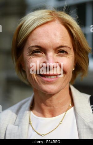 Mariella Frostrup pictured in the City of Westminster, London on 13th June 2018. - Stock Photo