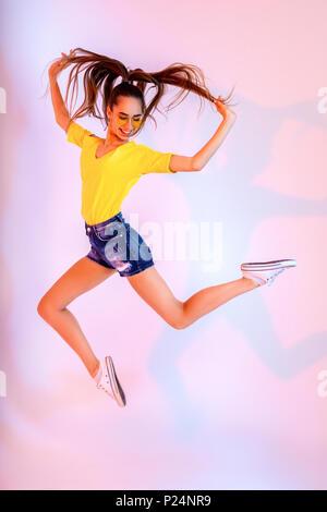 girlish funky happiness dream fun joy summer concept