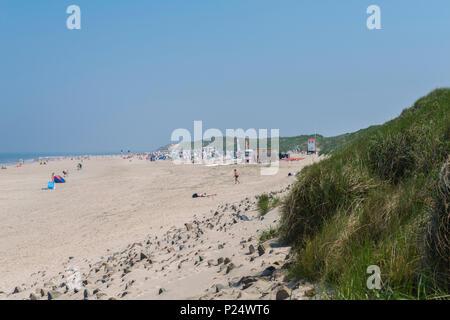 Beach on Baltrum, East Frisian island, Lower Saxony, Germany, Badestrand an der Nordsee, Baltrum,  Ostfriesland, Niedersachsen, Deutschland - Stock Photo