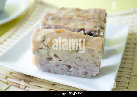 Chinese style homemade yam cake - Stock Photo