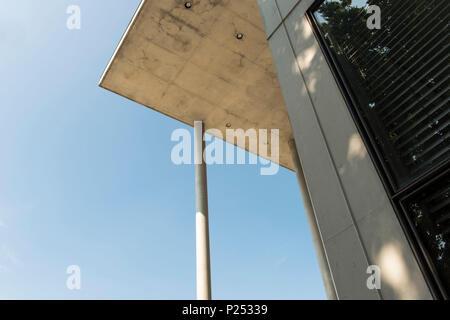 Pinakothek der Moderne, architecture, detail, Munich, Bavaria, Germany - Stock Photo