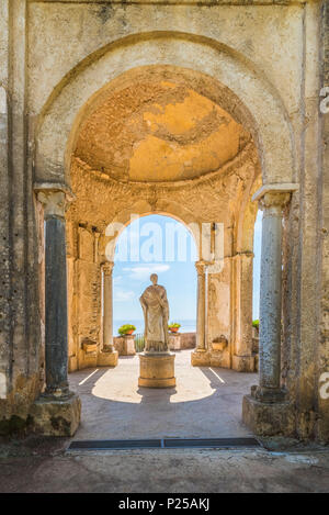 Villa Cimbrone, Ravello, Amalfi coast, Salerno, Campania, Italy. The temple of Ceres Goddess - Stock Photo