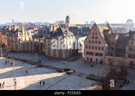 Rohan Palace, Strasbourg district, Alsatian, Grand Est, Bas-Rhin, France - Stock Photo