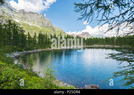 Lago Nero, Alpe Devero, Ossola, Piedmont, Italian alps, Italy - Stock Photo