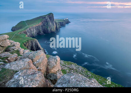 Neist Point, the most westerly point on the Isle of Skye, Inner Hebrides, Scotland - Stock Photo