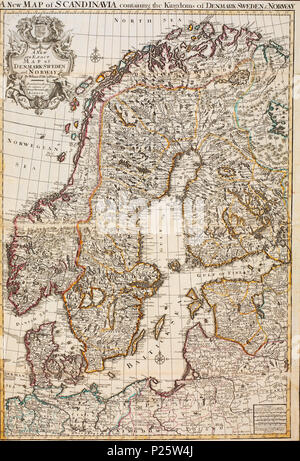 kart norden no A new and exact map of Denmark, Sweden and Norway no nb krt 00478  kart norden no