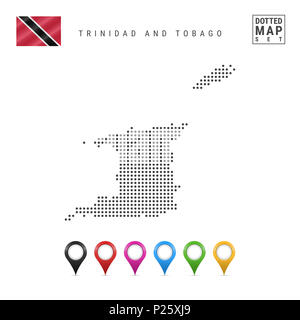 Trinidad and Tobago outline map set Stock Vector Art & Illustration ...
