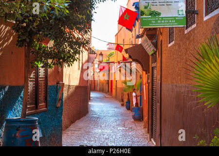 Marrakesh Medina colorful streets Morocco - Stock Photo