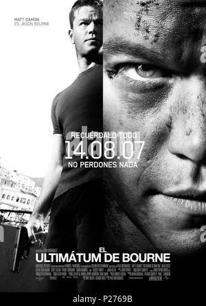 Original Film Title: THE BOURNE ULTIMATUM.  English Title: THE BOURNE ULTIMATUM.  Film Director: PAUL GREENGRASS.  Year: 2007. Credit: UNIVERSAL PICTURES / Album - Stock Photo