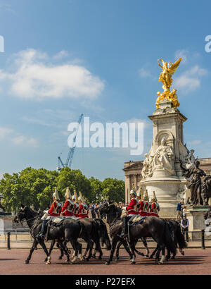 the Queens birthday Trooping the Colour - Stock Photo