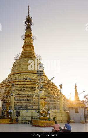 Yangon (Rangoon), Botataung Paya temple, zedi (stupa), Yangon Region, Myanmar (Burma) - Stock Photo