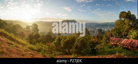 Kalaw, view to Kalaw, Shan State, Myanmar (Burma) - Stock Photo