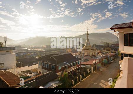 Kalaw, town center, Aung Chan Thar Zedi pagoda, Shan State, Myanmar (Burma) - Stock Photo