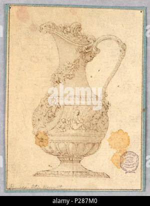 101 Drawing, Design for an Ewer, 1600–1900 (CH 18128859) - Stock Photo
