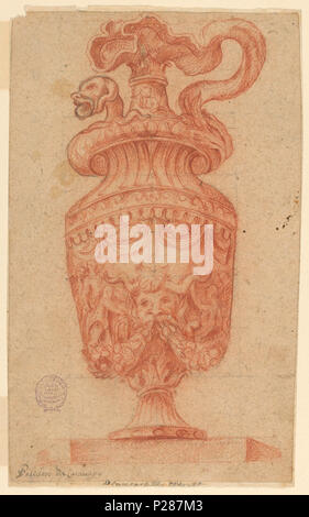 101 Drawing, Design for an Ewer, 1600–1900 (CH 18125819) - Stock Photo