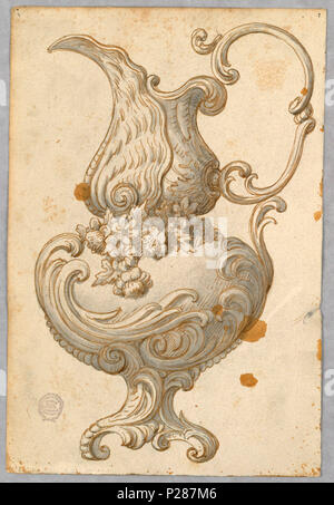101 Drawing, Design for an Ewer, 1800–1900 (CH 18129327) - Stock Photo