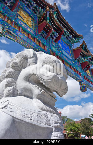 Gateway to Chinatown in Ottawa, Ontario, Canada,  Chinese culture in Canada. - Stock Photo