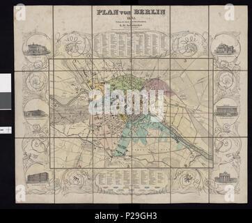 Plan Von Berlin No Nb Krt 00773 Stock Photo 160916443 Alamy