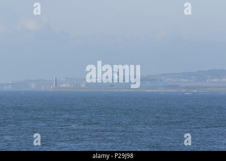 Cruise ship entering the River TYne - Stock Photo