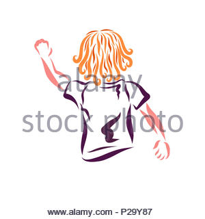 A child waving goodbye or greeting stock photo 188938835 alamy a child waving his hand greeting or saying goodbye stock photo m4hsunfo