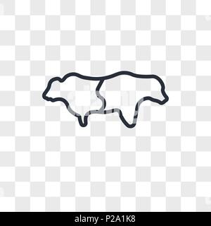 bull bear vector icon isolated on transparent background, bull bear logo concept - Stock Photo