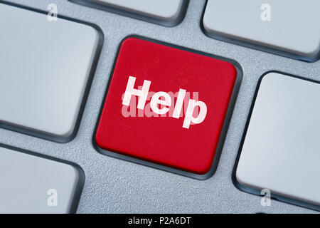 Help key, button on the computer keyboard - Stock Photo