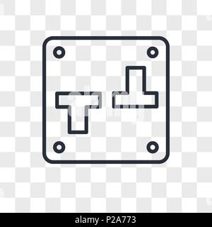 Switch vector icon isolated on transparent background, Switch logo concept - Stock Photo