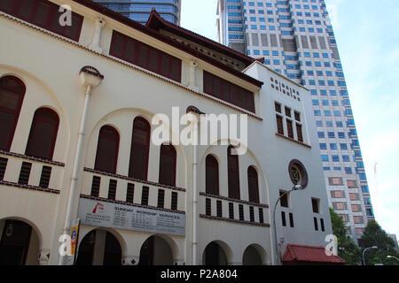 The Telok Ayer Chinese Methodist Church (Singapore). - Stock Photo