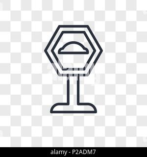 speed bump vector icon isolated on transparent background, speed bump logo concept - Stock Photo