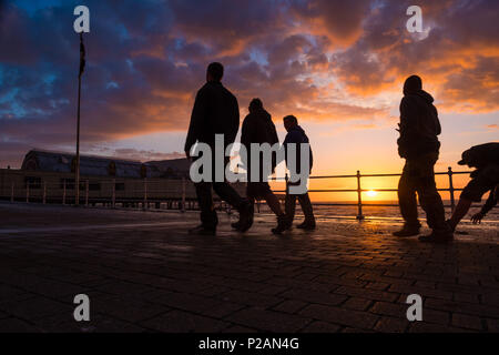 Aberystwyth, UK. 14th June 2018.   UK Weather: After Storm Hector has blown out, the day ends with a glorious summer evening and sunset in Aberystwyth on the west Wales coast  photo credit  Keith Morris / Alamy Live News - Stock Photo