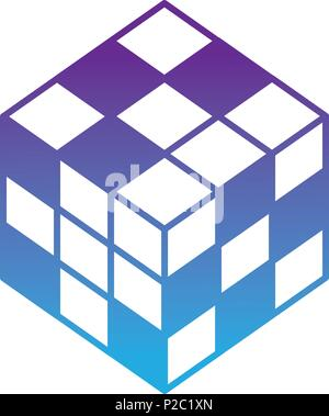 3d rubik cube game toy image - Stock Photo