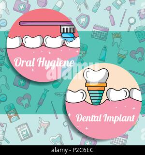 oral hygiene dental implant dentistry medical care - Stock Photo