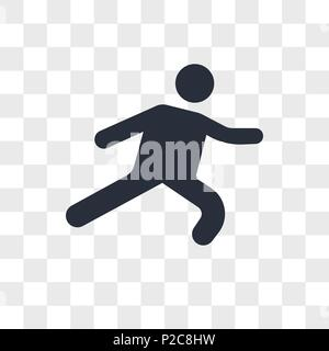 Long Jump vector icon isolated on transparent background, Long Jump logo concept - Stock Photo
