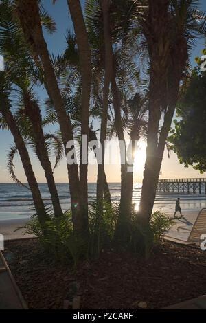 Redington Beach. Florida, USA,   Sunsets,  Beach. La Contessa Pier. Wednesday 25/10/2017   © Peter SPURRIER - Stock Photo