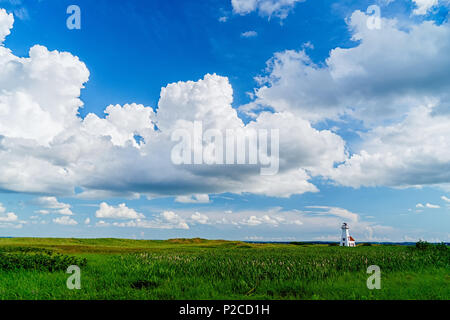 Lighthouse in French River, Prince Edward Island, Canada - Stock Photo