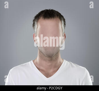 Faceless man portrait - Stock Photo