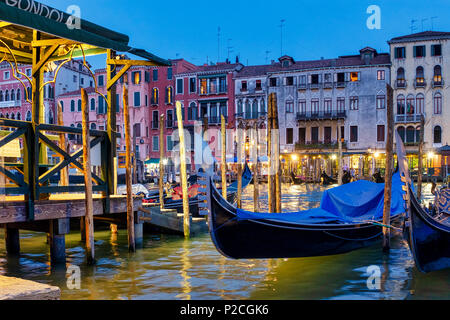 Gondolas in Canal Grande, Venice, Italy, - Stock Photo
