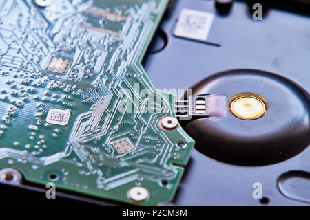 Hard Drive board and connection - Stock Photo