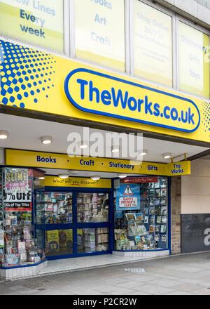 The Works shop, Nottingham, England, UK - Stock Photo