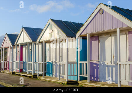 Beach huts At Sutton On Sea - Stock Photo
