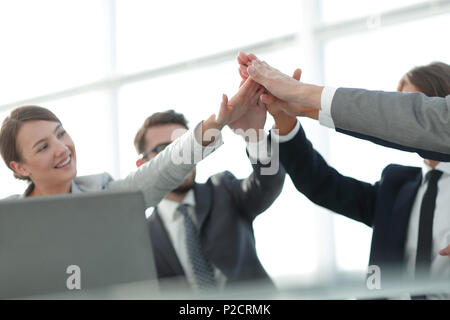 success and victory .the concept of teamwork. - Stock Photo
