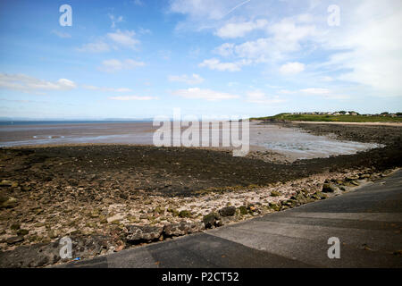 Heysham beach and port coastline Morcambe Bay Lancashire England UK - Stock Photo