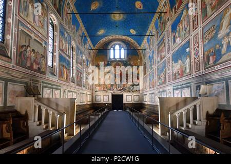 Italy, Venetia, Padova, Padua, Scrovegni chapel, frescoes by Giotto - Stock Photo