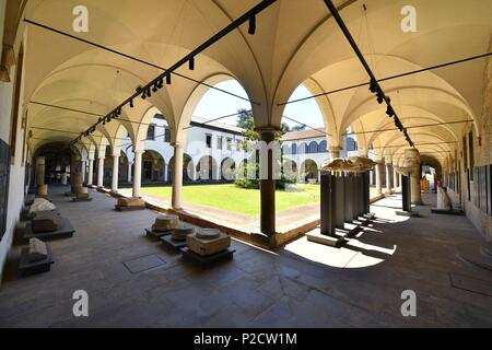 Italy, Venetia, Padova,Padua, Scrovegni chapel, cloister and museum - Stock Photo