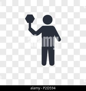 Traffic Guard vector icon isolated on transparent background, Traffic Guard logo concept - Stock Photo