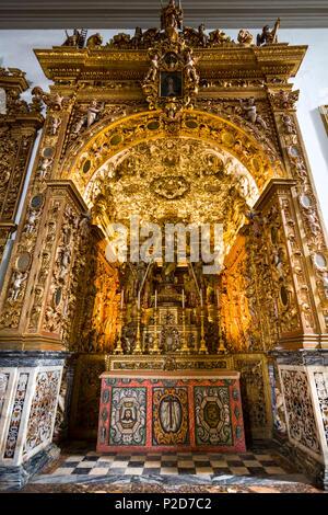 Interior view of the altar in Se Cathedral, Faro, Algarve, Portugal - Stock Photo
