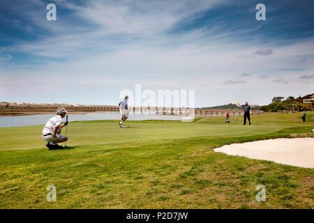 Golf course, Hotel Quinta do Lago bei Almancil, Algarve, Portugal - Stock Photo