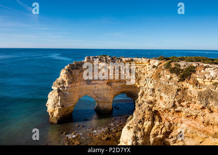 Beach Praia da Marinha, Faro, Algarve, Portugal - Stock Photo